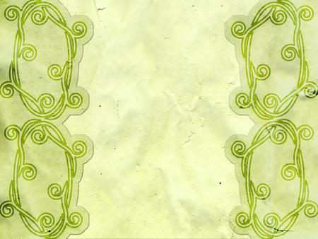keltische muster: breit alten grünen Papier mit keltischen Muster