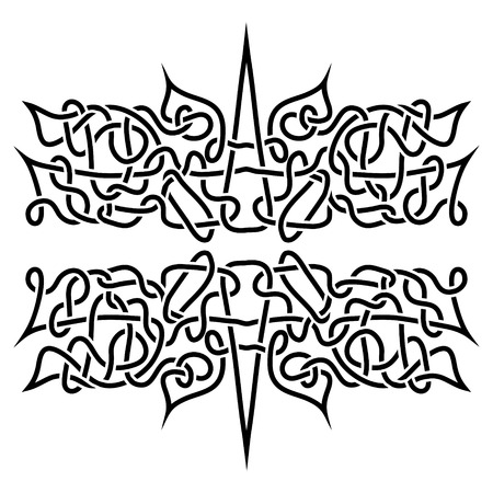 knotwork: traditional vector celtic ornament - black and white Illustration