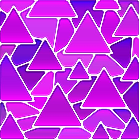 magenta: abstract vector stained-glass mosaic background - magenta triangles