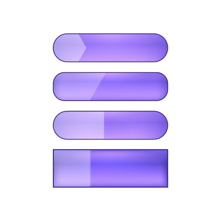 colored blank vector web buttons set - violet Illustration