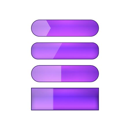 colored blank vector web buttons set - violet Illustration