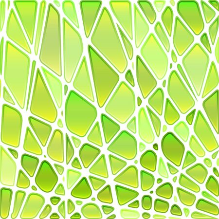 abstract vector stained-glass mosaic background - green and yellow Illustration