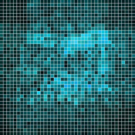 pixelated: abstract vector square pixel mosaic background - blue