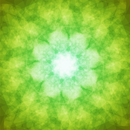 abstract vector spotted background - green and yellow