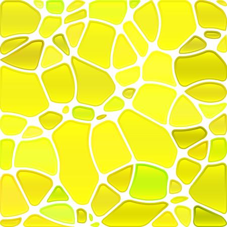 fond de mosaïque de verre coloré vecteur abstraite - cercles jaunes Vecteurs