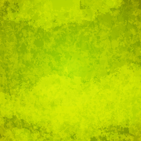 abstract vector grunge background - green and yellow Ilustrace