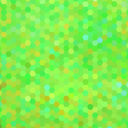 abstract vector geometric hexagon background - green and yellow Illustration