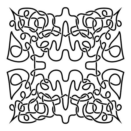 伝統的なベクトル ケルト飾り - 黒と白