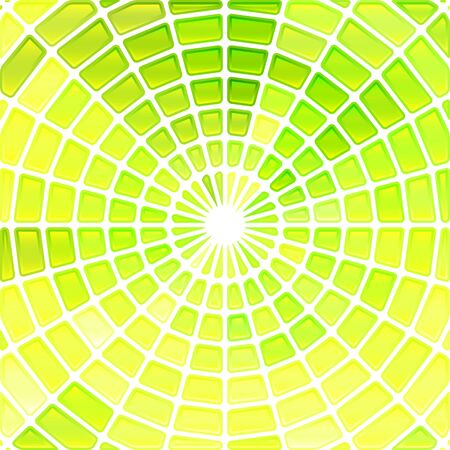 abstract paintings: abstract vector stained-glass mosaic background - yellow and green Illustration
