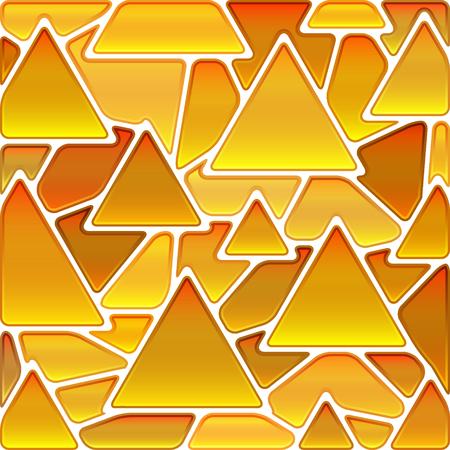 fond de mosaïque de verre coloré vecteur abstraite - triangles d'or