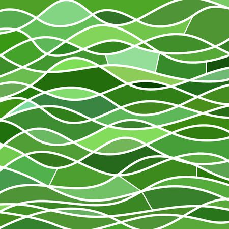 translucent: Abstract vector stained-glass mosaic background - green waves