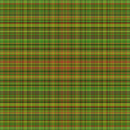 british culture: abstract vector tartan seamless - green and orange