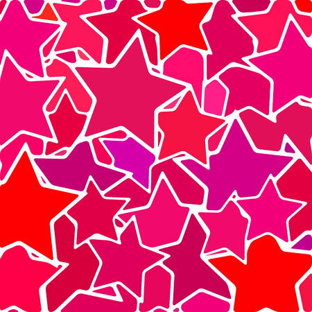 abstract vector stained-glass mosaic background - purple and red stars