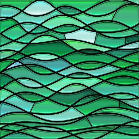 résumé , vecteur vitrail mosaïque fond - ondes fluides Vecteurs