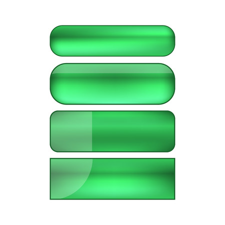 ベクターの web ボタン セット - 緑