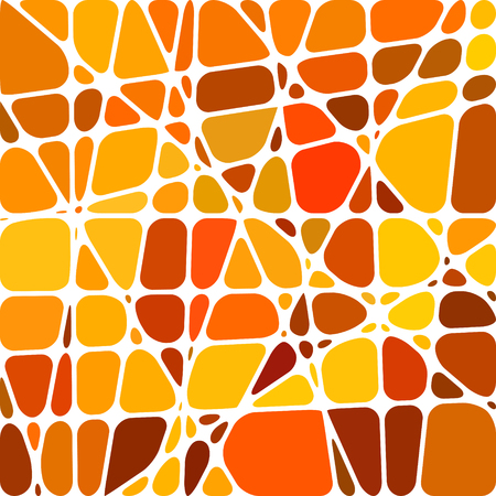 abstract vector stained-glass mosaic background - orange and yellow Illustration