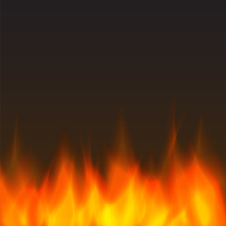 burning: abstract vector fire background