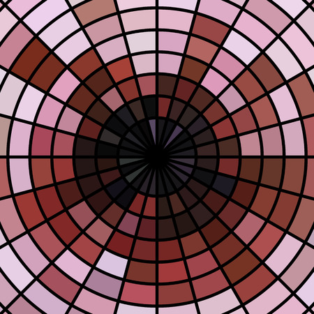 abstract vector stained-glass mosaic background - red and pink