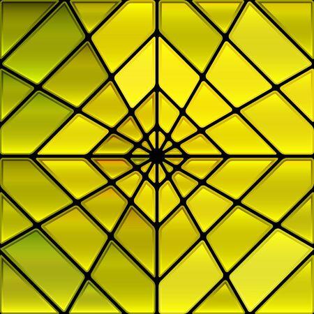 fond abstrait de mosaïque de vitraux en verre - rayon jaune