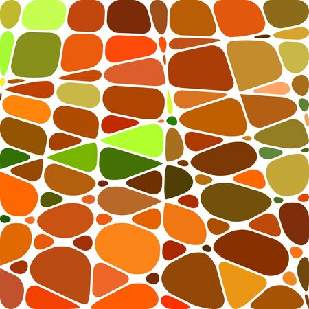 abstract vector stained-glass mosaic background - orange and green