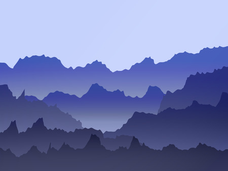 abstract vector watercolor misty mountains landscape Ilustrace