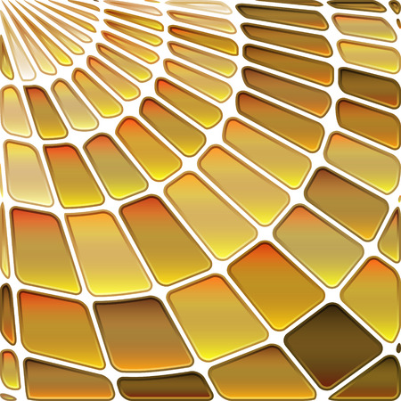 abstract vector stained-glass mosaic background - golden yellow Illustration