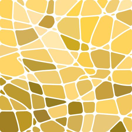 abstract vector stained-glass mosaic background - yellow and beige