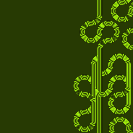 abstract vector background with stripes pattern - green Illustration