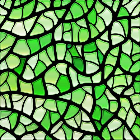 abstract vector stained-glass mosaic background - bright green Illustration