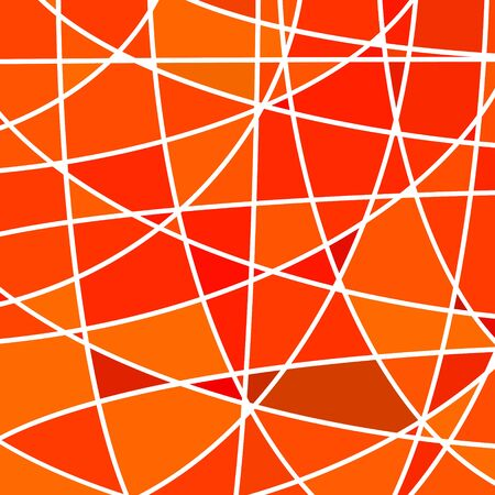 chaos: abstract vector stained-glass mosaic background - red and orange