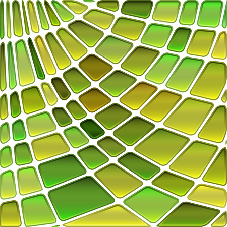 abstract vector stained-glass mosaic background - green and yellow Çizim