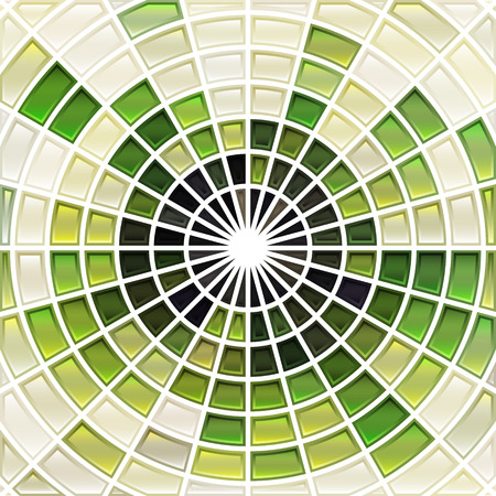 abstract vector stained-glass mosaic background - bright and light green