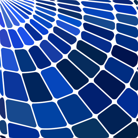 abstract vector stained-glass mosaic background - dark blue