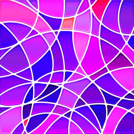 추상적 인 벡터 스테인드 글라스 모자이크 배경 - 보라색 동그라미 일러스트