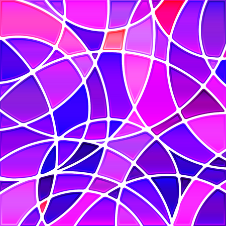 abstract vector stained-glass mosaic background - violet circles