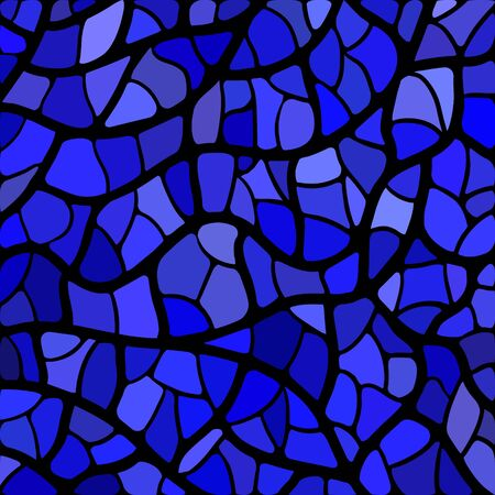 abstract vector stained-glass mosaic background - blue and violet