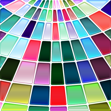 abstract vector stained-glass mosaic background - red, green and blue Illustration