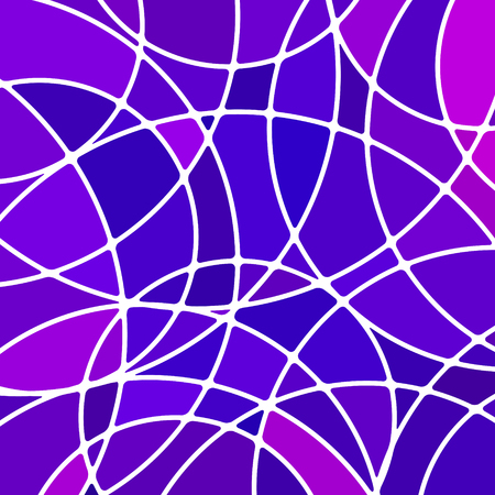 Abstract vector stained-glass mosaic background - purple and violet.