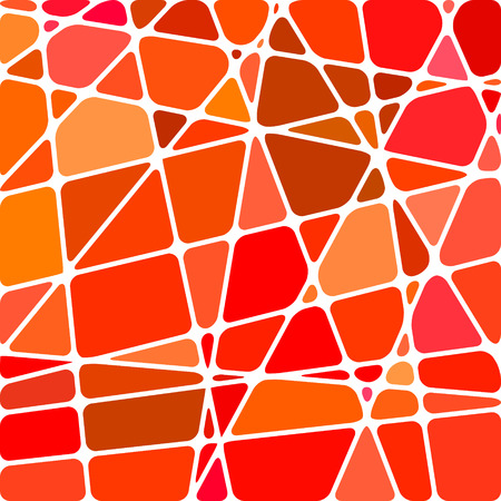 Abstract vector stained-glass mosaic background - red and orange  イラスト・ベクター素材