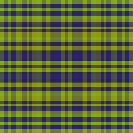 Abstract vector tartan seamless - green and blue illustration.