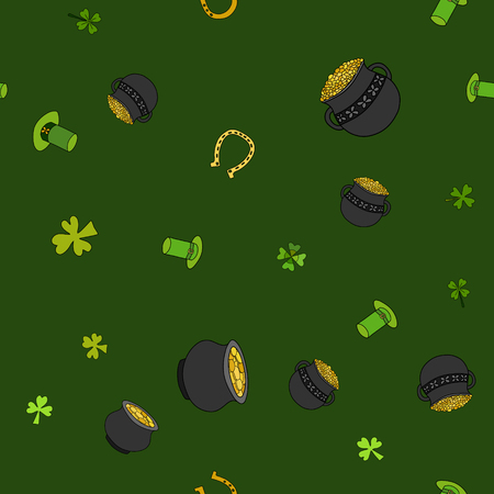 Saint Patrick's related elements Day pattern design