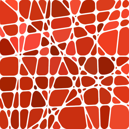 abstract vector stained-glass mosaic background - red and brown
