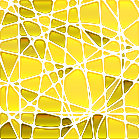 abstract vector stained-glass mosaic background - bright yellow