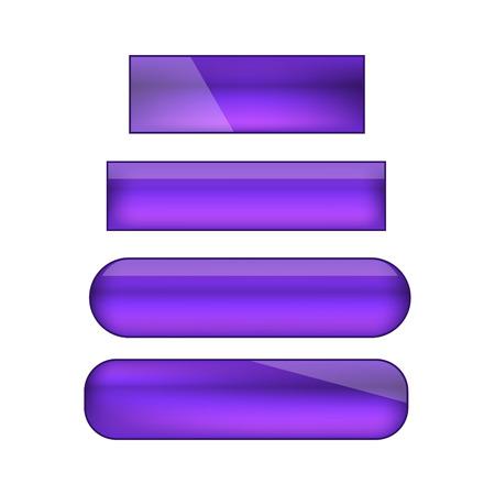 vector web buttons set - violet