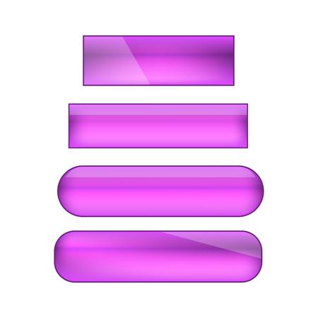 vector web buttons set - purple Illusztráció