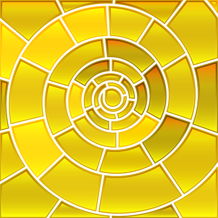 Abstract vector stained-glass mosaic background - golden spiral