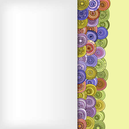 abstract vector vintage colored circles card