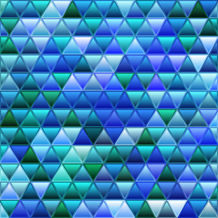 abstract vector stained-glass triangle mosaic background - blue 일러스트