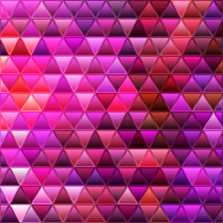 abstract vector stained-glass triangle mosaic background - purple