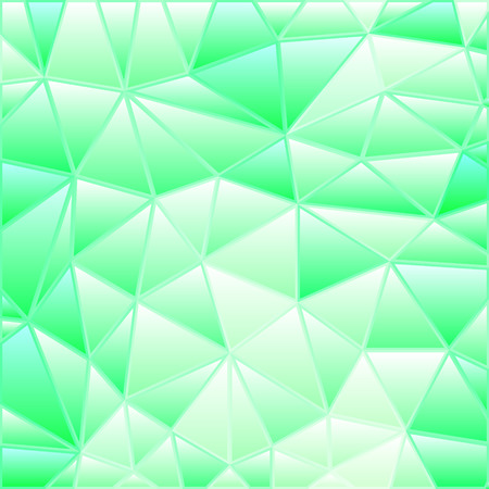 abstract vector stained-glass triangle mosaic background - light green